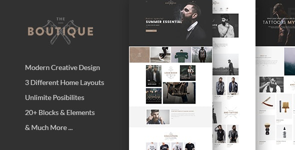 Boutique - Multipurpose eCommerce Template - Shopping Retail