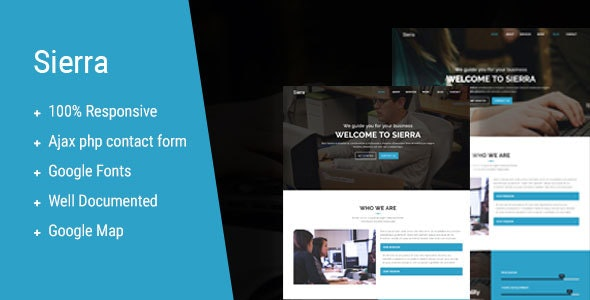 Sierra - One Page MultiPurpose Template - Corporate Site Templates