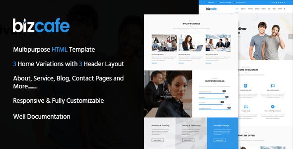 Bizcafe Corporate HTML Template - Business Corporate