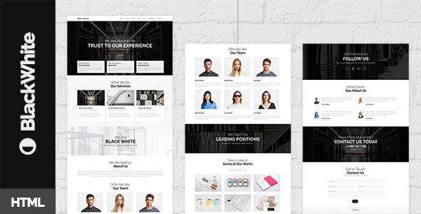 BlackWhite — Onepage Bootstrap Parallax Retina Template - Creative Site Templates