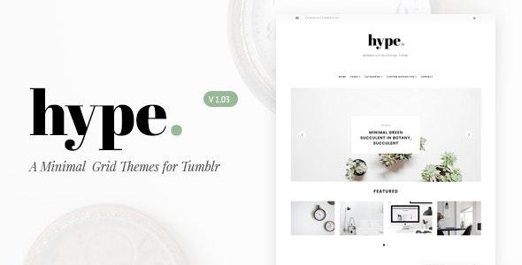 Hype   Minimal Grid Tumblr Theme - Blog Tumblr