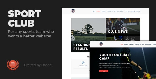 Sport Club - A  WP Theme For Your Small, Local Team - Nonprofit WordPress