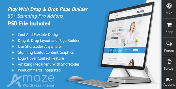 Amaze - Corporate Responsive Multi-Purpose WordPress Theme - Business Corporate