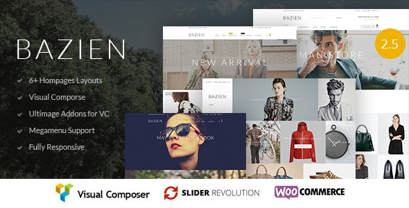Bazien  - WordPress / Woocommerce Responsive Theme - WooCommerce eCommerce