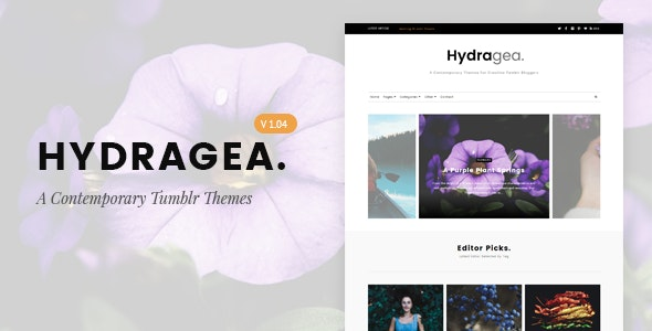 Hydragea | A Contemporary Tumblr Theme by TMint | ThemeForest