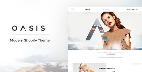 Oasis - Modern Shopify Theme - Fashion Shopify