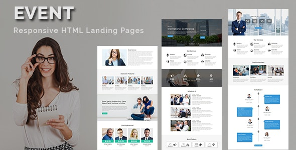 EVENT - Multipurpose Responsive HTML Landing Page - Landing Pages Marketing