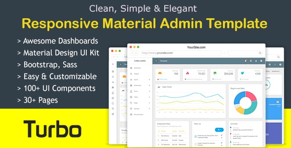 Turbo Bootstrap Admin Dashboard Template - Admin Templates Site Templates