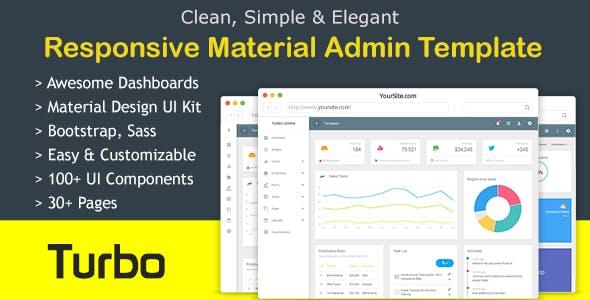 Turbo Bootstrap Admin Dashboard Template