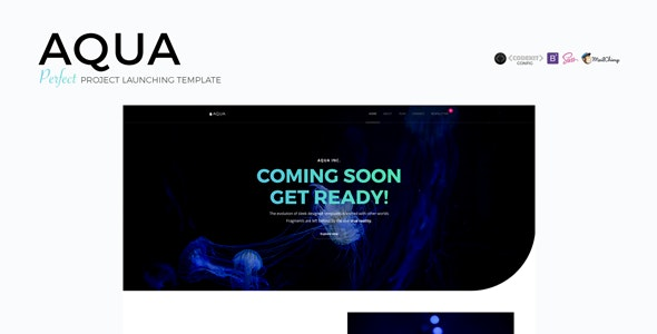 AQUA - Perfect Project Launching Template - Under Construction Specialty Pages