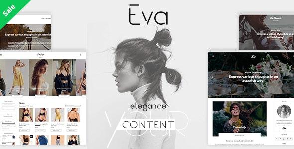 EVA - Elegant WordPress Theme for Creating Stories - Personal Blog / Magazine