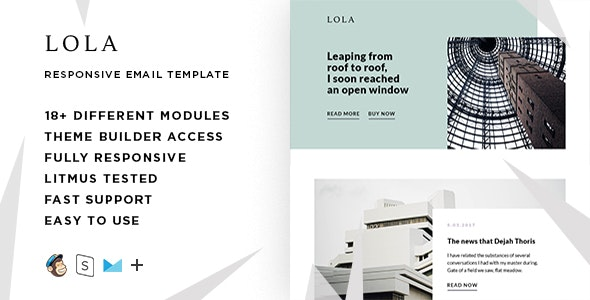 Lola  – Responsive HTML Email + StampReady, MailChimp & CampaignMonitor compatible files - Email Templates Marketing