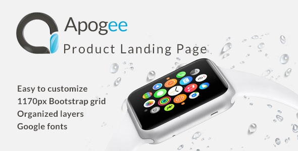 Apogee - Product Landing Page - Marketing Corporate
