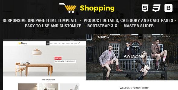 Shop - Responsive eCommerce HTML Template - Creative Site Templates