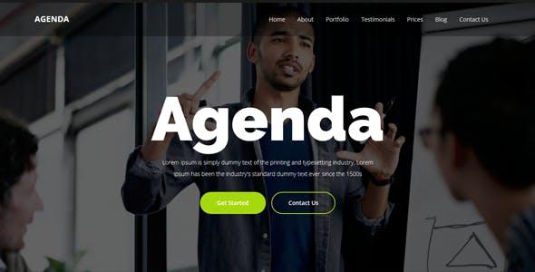 Agenda Website Templates From Themeforest