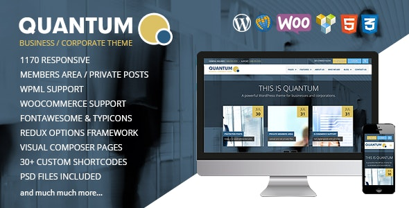 QUANTUM - Responsive Business WordPress Theme - Business Corporate