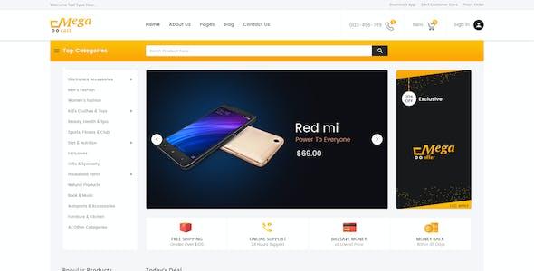 Megacart - Multi Purpose E-commerce PSD Template