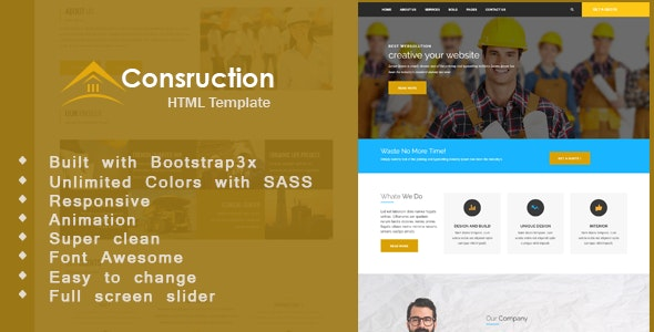 Condem - Construction Business, Building, Industry  Company Template - Business Corporate