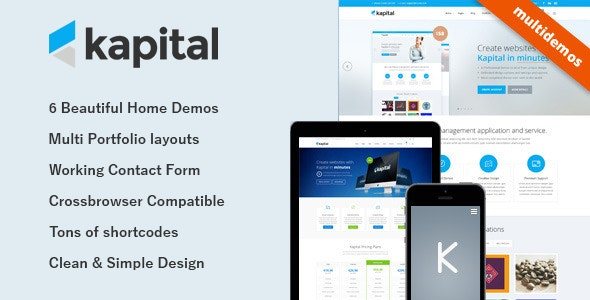 Kapital - Responsive Multi-Purpose Template - Creative Site Templates