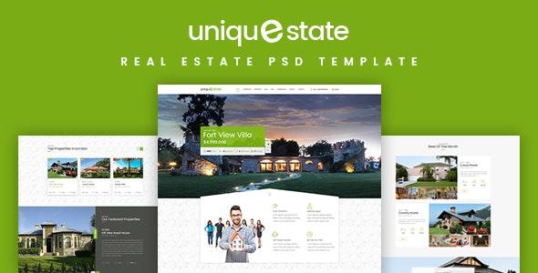 Unique - Real Estate Landing Page PSD - Business Corporate