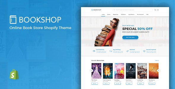 Bookshop - Digital Download Product Shopify Theme - Entertainment Shopify