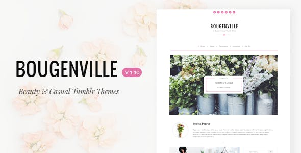 Bougenville   Beautiful & Casual Tumblr Theme