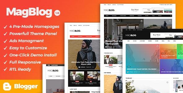 MagBlog - News & Editorial Magazine Blogger Theme - Blogger Blogging