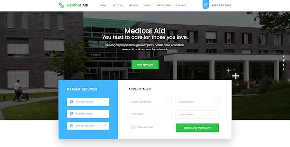 Medical Aid PSD Template
