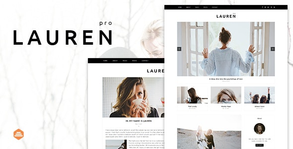 Lauren - Personal & Clean Blog Template - Personal Site Templates