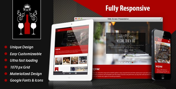 New Hat - Bar & Restaurant HTML Template - Restaurants & Cafes Entertainment