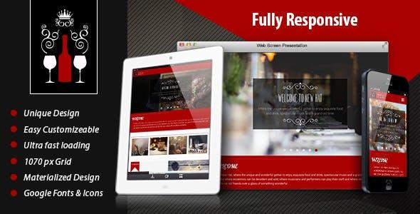 New Hat - Bar & Restaurant HTML Template