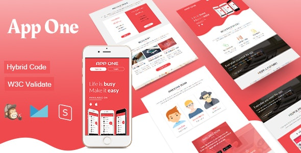 App One - Mobile App Email Template - Email Templates Marketing