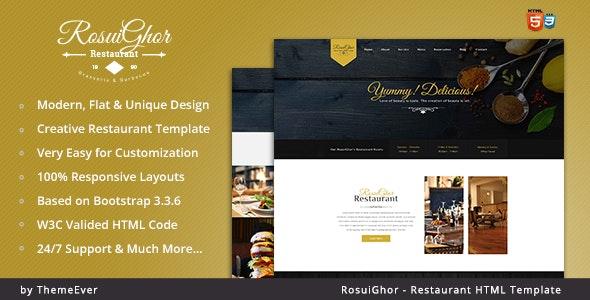 Rosuighor - Restaurant HTML Template - Restaurants & Cafes Entertainment