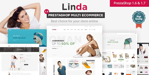 Linda Responsive Prestashop 1.6, 1.7  Theme - Fashion PrestaShop