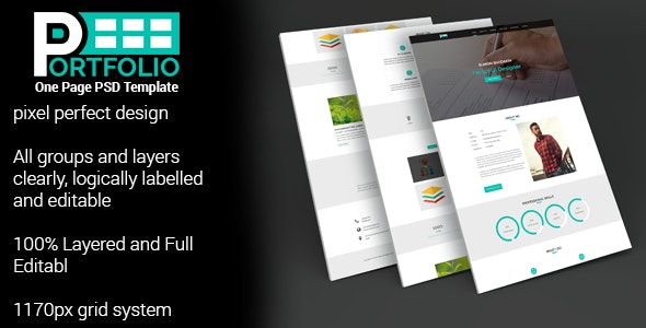 PORTFOLIO One Page PSD Template by TrustTheme | ThemeForest