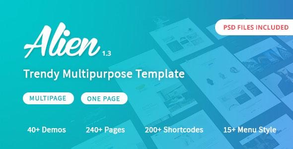Alien - Responsive Multipurpose HTML5 Template - Corporate Site Templates