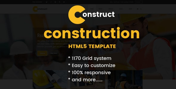 Construction, Building Business HTML Template - Corporate Site Templates