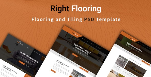 Flooring and Tiling PSD Template - Corporate Photoshop