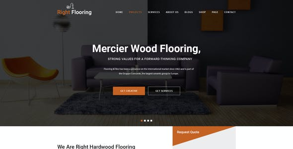Flooring and Tiling PSD Template