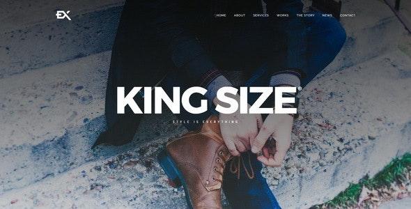 King Size || Creative Portfolio Template - Portfolio Creative