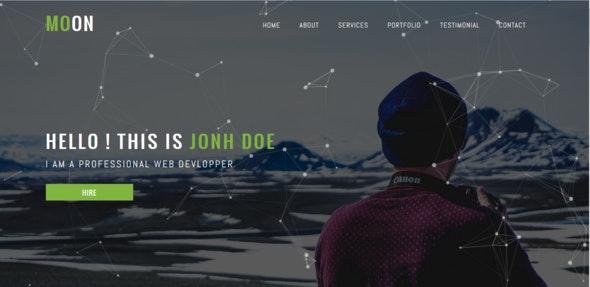 MOON - Personal Portfolio Template - Portfolio Creative