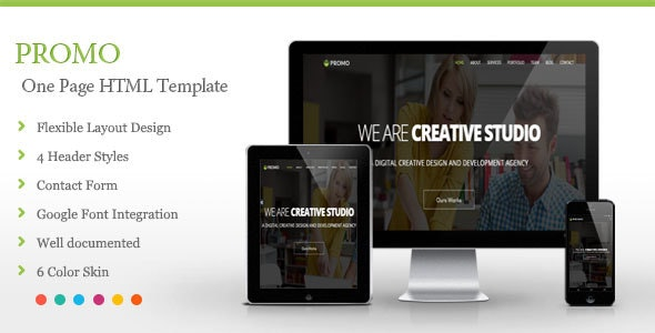 Promo - One Page HTML Template - Creative Site Templates