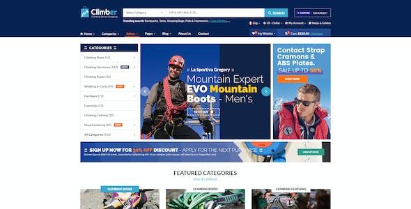 Climber - Travel Accessories PSD Template