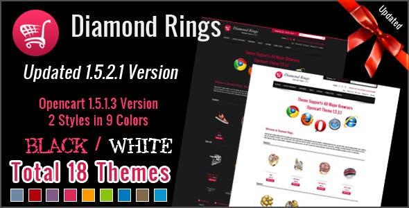 Diamond Rings OpenCart Theme
