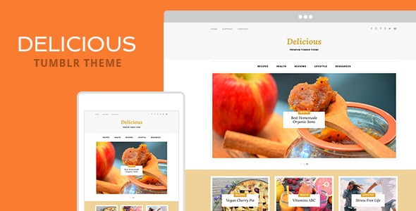 Delicious Tumblr Theme - Blog Tumblr