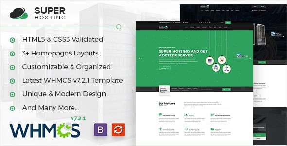 Super Host - WHMCS & HTML Template For Web Hosting & Technologies Company - Hosting Technology