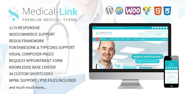 Medical-Link - Responsive Medical WordPress Theme - Business Corporate
