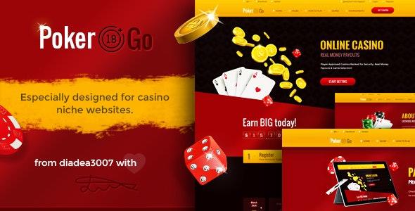 Poker Go - Casino & Gambling Online PSD Template - Creative Photoshop