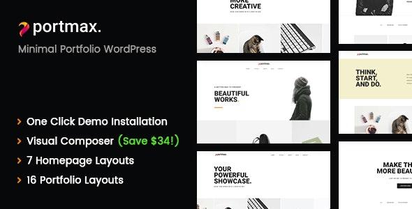PortMax - Minimal Portfolio WordPress Theme - Portfolio Creative