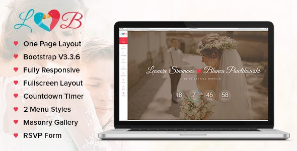Lovebirds - Responsive Wedding HTML Template - Wedding Site Templates
